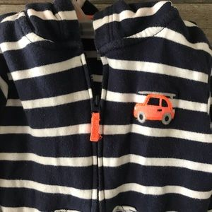 Carter's hoodie blue white front zip size 24 mths